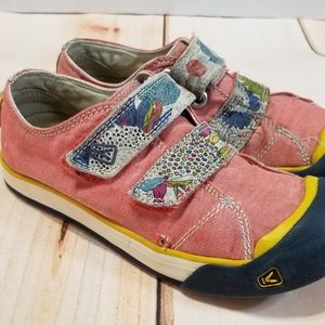 Keen Sula Coral & Floral Velcro Strap Sneakers 2